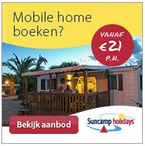 korting op campings met tenten stacaravan en mobile home van Suncamp